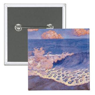Blue seascape, Wave Effect, c.1893 Button