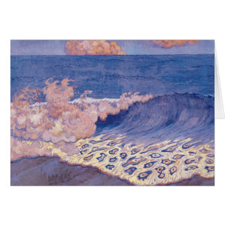 Blue seascape, Wave Effect, c.1893 Card