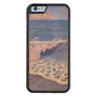 Blue seascape, Wave Effect, c.1893 Carved Maple iPhone 6 Bumper Case