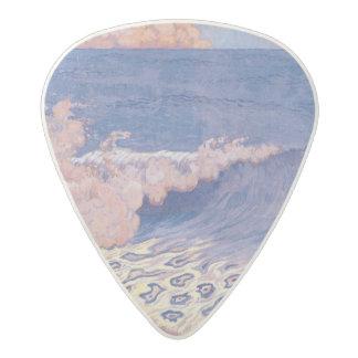 Blue seascape, Wave Effect, c.1893 Acetal Guitar Pick