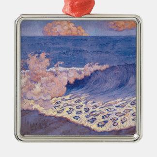 Blue seascape, Wave Effect, c.1893 Metal Ornament