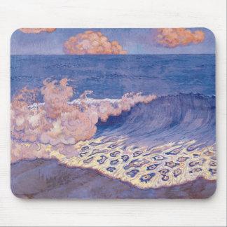 Blue seascape, Wave Effect, c.1893 Mouse Pad