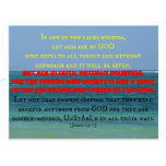 Blue seascape with James Bible verse If any of you Postcards