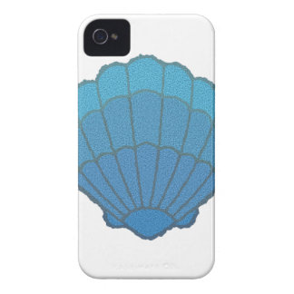 Blue Seashell Mosaic iPhone 4 Cover