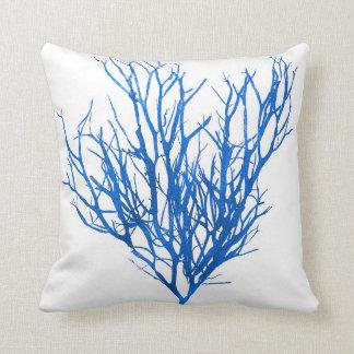 Blue Seaweed no.10 beach decor Throw Pillow