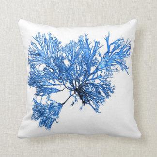 Blue Seaweed no.6 Coastal Living Decor Throw Pillow
