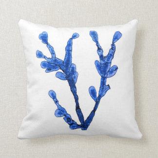 Blue Seaweed no.8 Coastal Living Decor Throw Pillow