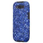 Blue Sequin Effect Phone Cases Samsung Galaxy SIII Covers