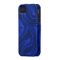 Blue Sequin Effect Phone Cases iPhone 4/4S Covers