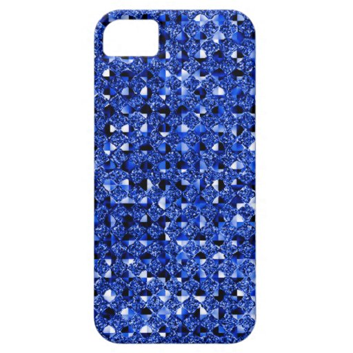 Blue Sequin Effect Phone Cases iPhone 5 Cover