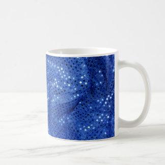 blue sequin fabrics, coffee mug
