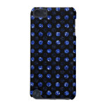 Blue Sequin Polka Dotted Effect iPod Case dark iPod Touch (5th Generation) Case