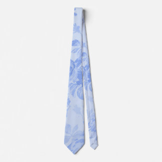 Blue Serenity Floral Toile Neck Tie