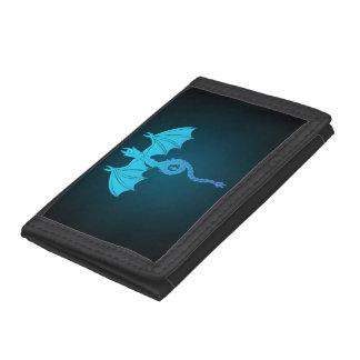 Blue Serpant Dragon Trifold Wallet