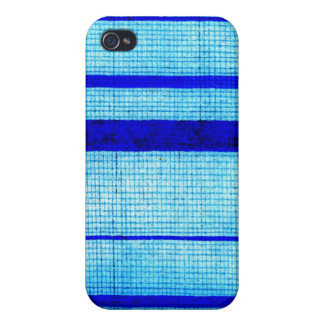 Blue Sha Gauze Weave with Stripes Print 1825 iPhone 4 Cover