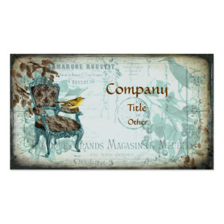 Blue Shabby Chic Business Card