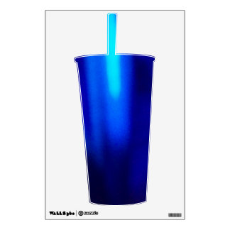 Blue Shade Straw Cup Decal © Roseanne Pears 2012.