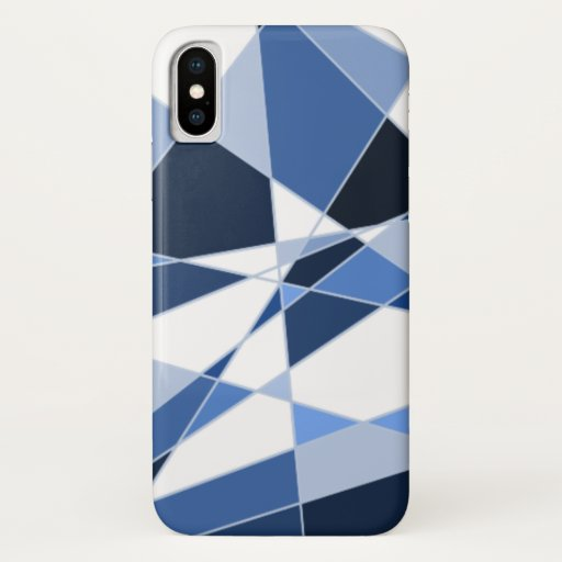 Blue Shaded Crystal Design iPhone XS Case