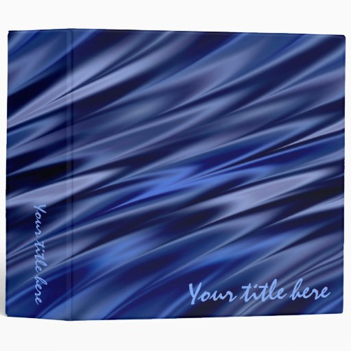 Blue shaded waves 3 ring binder