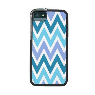 Blue  shades chevrons Iphone 5s case Cover For iPhone 5