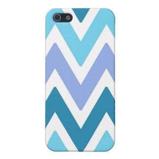 Blue  shades chevrons Iphone 5s case Cover For iPhone 5/5S