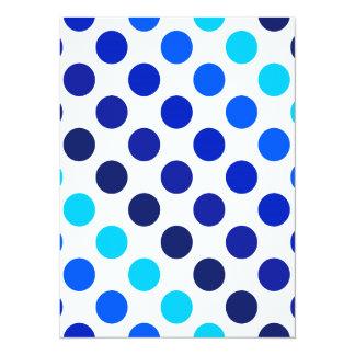 Blue Shades Polka Dot Stripes Card