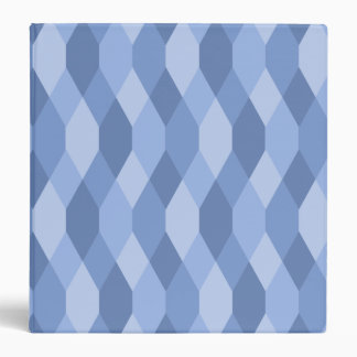 Blue Shades Rhombus And Hexagon Pattern Binder