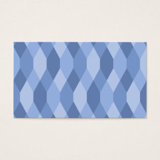Blue Shades Rhombus And Hexagon Pattern Business Card
