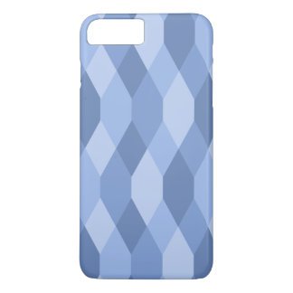 Blue Shades Rhombus And Hexagon Pattern iPhone 7 Plus Case