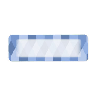 Blue Shades Rhombus And Hexagon Pattern Label