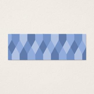 Blue Shades Rhombus And Hexagon Pattern Mini Business Card