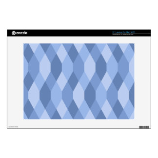 """Blue Shades Rhombus And Hexagon Pattern Skin For 13"""" Laptop"""