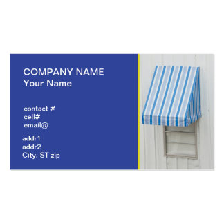 blue shades window canopy Double-Sided standard business cards (Pack of 100)