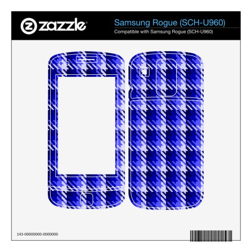 Blue Shadow Check Samsung Rogue Skin