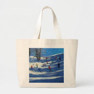 Blue shadows Morzine Large Tote Bag