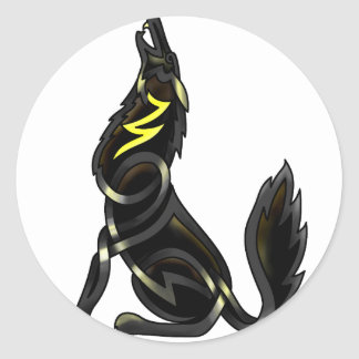 Blue Shadows (The Howling Wolf) Classic Round Sticker