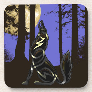 Blue Shadows (The Howling Wolf) Coaster