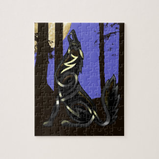 Blue Shadows (The Howling Wolf) Jigsaw Puzzle
