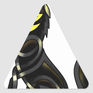 Blue Shadows (The Howling Wolf) Triangle Sticker