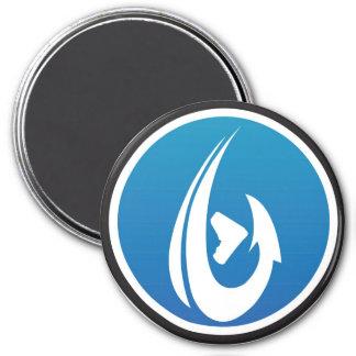 Blue ShamHook 3 Inch Round Magnet