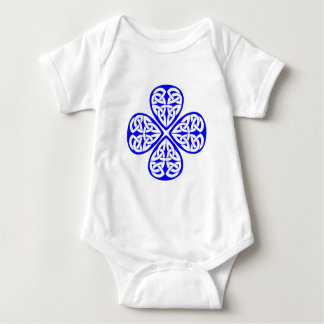 blue shamrock celtic knot baby bodysuit