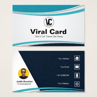 """Blue Shape Business Card Standard, 3.5"""" x 2.0"""""""