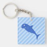 Blue Shark. Acrylic Keychains