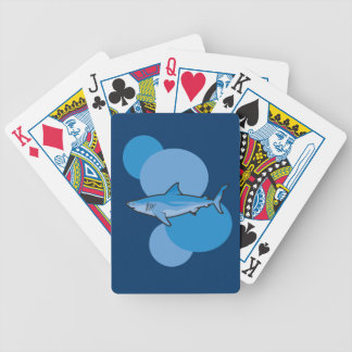 Blue Shark Bicycle Poker Cards