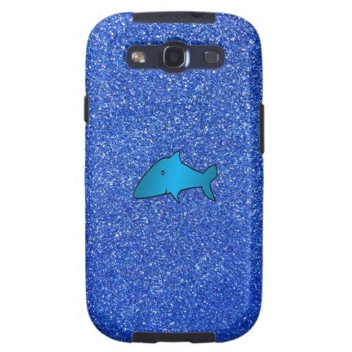 Blue shark blue glitter samsung galaxy SIII case