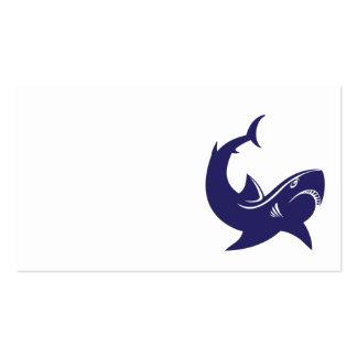 Blue shark business card
