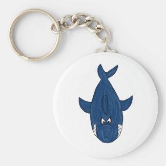 Blue shark keychain