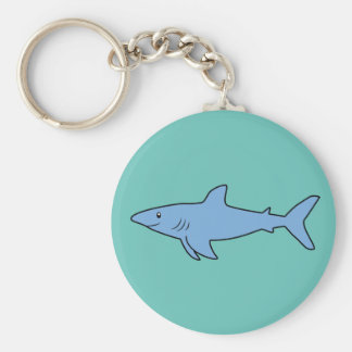 Blue-Shark Keychain