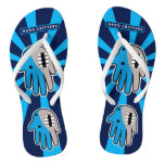 Hand shaped Blue Shark mouth Flip Flops
