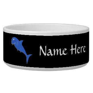 Blue Shark on Black. Bowl